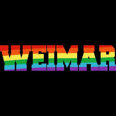 Weimar Regenbogenfahne - Weimar ist bunt. - transgender,queer,lesbisch,homosexuell,bunt,bisexuell,bisexual,Weimar,Tolleranz,Thüringen,Stadt,Schwule,Regenbogenflagge,Regenbogenfahne,Regenbogen,Lesben,LGBT,Germany,Gay pride,Deutschland,CSD