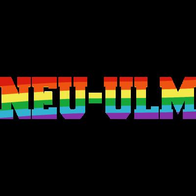 Neu-Ulm Regenbogenfahne - Neu-Ulm ist bunt. - transgender,queer,lesbisch,homosexuell,bunt,bisexuell,bisexual,Tolleranz,Stadt,Schwule,Regenbogenflagge,Regenbogenfahne,Regenbogen,Neu-Ulm,Lesben,LGBT,Germany,Gay pride,Deutschland,CSD,Bayern