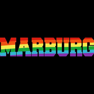 Marburg Regenbogenfahne - Marburg ist bunt. - transgender,queer,lesbisch,homosexuell,bunt,bisexuell,bisexual,Tolleranz,Stadt,Schwule,Regenbogenflagge,Regenbogenfahne,Regenbogen,Marburg,Lesben,LGBT,Hessen,Germany,Gay pride,Deutschland,CSD