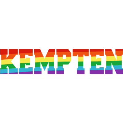 Kempten Regenbogenfahne - Kempten ist bunt. - transgender,queer,lesbisch,homosexuell,bunt,bisexuell,bisexual,Tolleranz,Stadt,Schwule,Regenbogenflagge,Regenbogenfahne,Regenbogen,Lesben,LGBT,Kempten,Germany,Gay pride,Deutschland,CSD,Bayern
