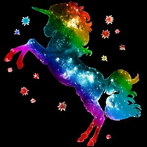 Einhorn unicorn Regenbogen Festival Party Sterne