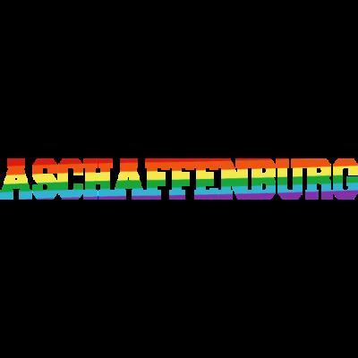 Aschaffenburg Regenbogenfahne - Aschaffenburg ist bunt. - transgender,queer,lesbisch,homosexuell,bunt,bisexuell,bisexual,Tolleranz,Stadt,Schwule,Regenbogenflagge,Regenbogenfahne,Regenbogen,Lesben,LGBT,Germany,Gay pride,Deutschland,CSD,Bayern,Aschaffenburg