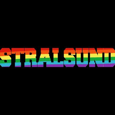 Stralsund Regenbogenfahne - Stralsund ist bunt.  - transgender,queer,lesbisch,homosexuell,bunt,bisexuell,bisexual,Tolleranz,Stralsund,Stadt,Schwule,Regenbogenflagge,Regenbogenfahne,Regenbogen,Mecklenburg-Vorpommern,Lesben,LGBT,Germany,Gay pride,Deutschland,CSD