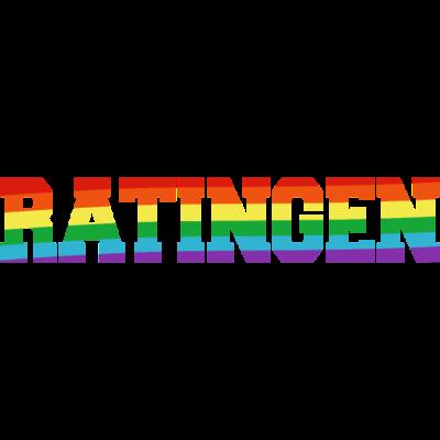 Ratingen Regenbogenfahne - Ratingen ist bunt. - transgender,queer,lesbisch,homosexuell,bunt,bisexuell,bisexual,Tolleranz,Stadt,Schwule,Regenbogenflagge,Regenbogenfahne,Regenbogen,Ratingen,Nordrhein-Westfalen,NRW,Lesben,LGBT,Germany,Gay pride,Deutschland,CSD