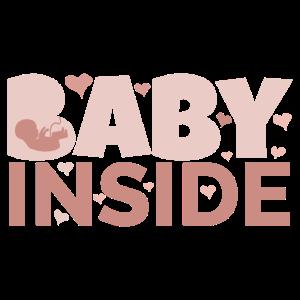 Baby Inside Schwangerschaftsankündigung Schwanger