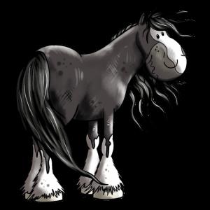 Fröhliches Shire Horse