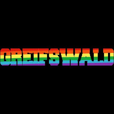 greifswald Regenbogenfahne - Greifswald ist bunt. - transgender,queer,lesbisch,homosexuell,bunt,bisexuell,bisexual,Tolleranz,Stadt,Schwule,Regenbogenflagge,Regenbogenfahne,Regenbogen,Mecklenburg-Vorpommern,Lesben,LGBT,Greifswald,Germany,Gay pride,Deutschland,CSD