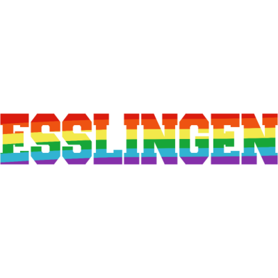 Esslingen Regenbogenfahne - Esslingen ist bunt.  - transgender,queer,lesbisch,homosexuell,bunt,bisexuell,bisexual,Tolleranz,Stadt,Schwule,Regenbogenflagge,Regenbogenfahne,Regenbogen,Lesben,LGBT,Germany,Gay pride,Esslingen,Deutschland,CSD,Baden-Württemberg