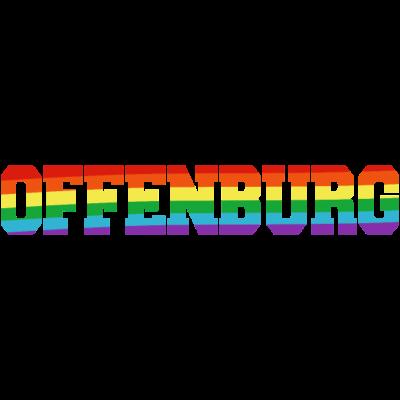 Offenburg Regenbogenfahne - Offenburg ist bunt. - transgender,queer,lesbisch,homosexuell,bunt,bisexuell,bisexual,Tolleranz,Stadt,Schwule,Regenbogenflagge,Regenbogenfahne,Regenbogen,Offenburg,Lesben,LGBT,Germany,Gay pride,Deutschland,CSD,Baden-Württemberg