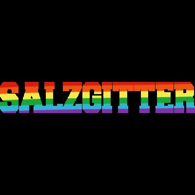 Salzgitter Regenbogenfahne - Salzgitter ist bunt. - transgender,queer,lesbisch,homosexuell,bunt,bisexuell,bisexual,Tolleranz,Stadt,Schwule,Salzgitter,Regenbogenflagge,Regenbogenfahne,Regenbogen,Niedersachsen,Lesben,LGBT,Germany,Gay pride,Deutschland,CSD