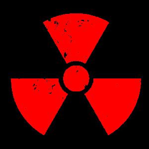 Rotes rot Radioaktiv, Radioaktivitätssymbol