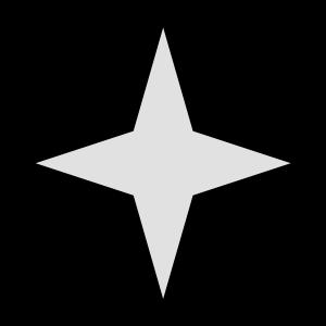 stern 4 zacken 2 farbig