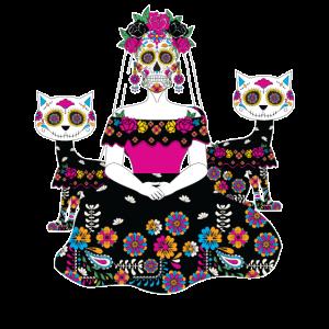 Sugar Skull Maske Tag der Toten Totenkopf Geschenk