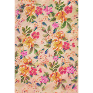 Vintage Glitched Pastel Flowers - Phone Case