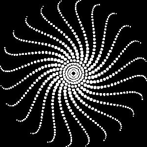 Spirale, weiß, psychedelisch, Trance,