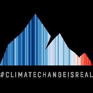 Global warming stripes - gray font