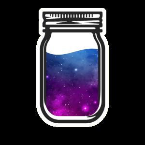 Weltall Glas Sterne Galaxy