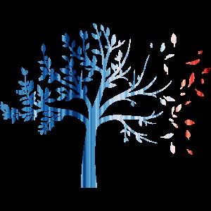Warming stripes - lose nature / tree