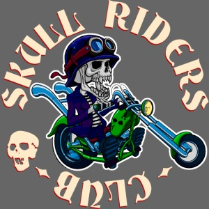 riders skull club dark background 2