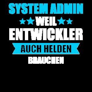 System Admin Administratoren Entwickler Geschenk