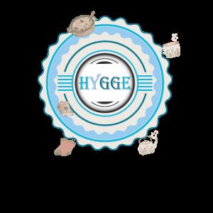 Hygge Logo gemuetlich Tasse Topf Buecher