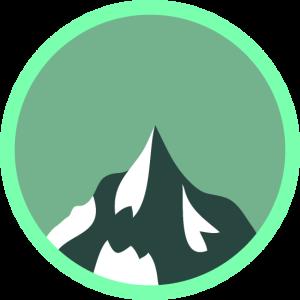 Bergspitze Berggipfel Logo Wappen