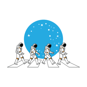 Musik Astronaut Zebrastreifen