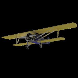 Altmodisches Doppeldeckerflugzeug