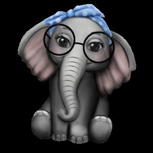 Elefant Nerd Brille Kopfband Elefanten