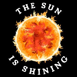 sun is shining sonne planet planeten