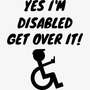 Ja ik ben gehandicapt, wen er maar aan