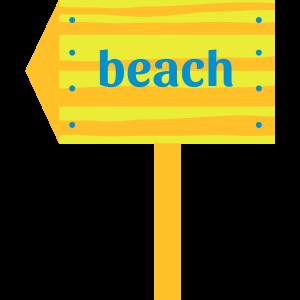 Signpost beach