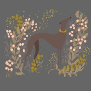 Windhund im Herbst