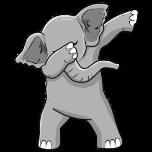 Dabbing Elefant Tanzender Elefant