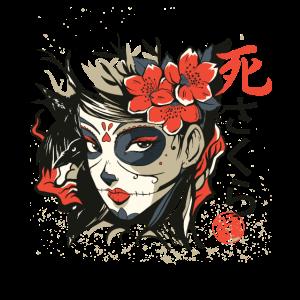 Asiatisches Anime Frauengesicht Schriftzeichen