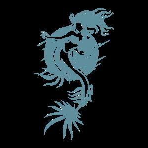 Cooles Meerjungfrauen Design in blau und dynamisch