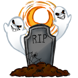 Halloween Geist Grab Grabstein RIP