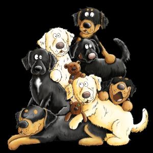 Hovawart Hundehaufen Comic Hunde Geschenk