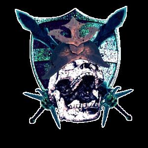 Krieger Kämpfer Totenkopf