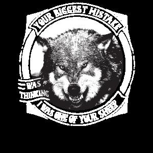 Wolf in der Wildnis