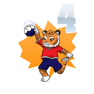 4. Geburtstag Kinder 4 Handball Vier