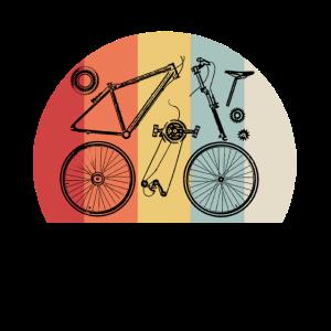 Retro Fahrrad Teile Anatomie Geschenkidee Vintage