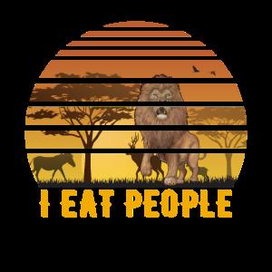 I eat people Löwe Ich hasse Meschen