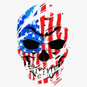 Teschio bandiera USA effetto strappo by Mescal