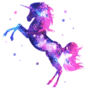 Einhorn unicorn Sterne Fantasy galaxy Universum
