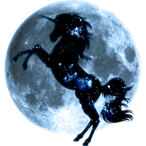 Einhorn, Vollmond , Mond, Magie, Pferd, unicorn,