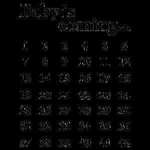 Baby is coming Kalender Schwangerschaft Geschenk