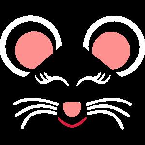 ★ Designfarben änderbar ★ Gesicht schlafende Maus