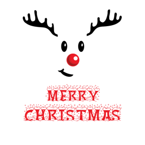 Rentier rote Nase Frohe Weihnachten Christmas