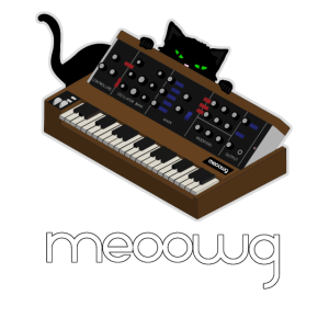 Lustiger Synthesizer Cat